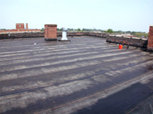 EPDM Is Made Mostly Of Flat Synthetic Rubber Pieces That Are Welded  Together At The Seams To Form One Continuous Membrane. This Material  Resists Expansion ...